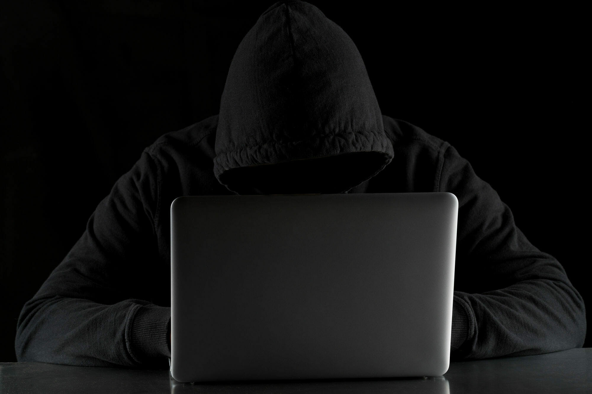 Computer Thief Entering Networks With His Laptop